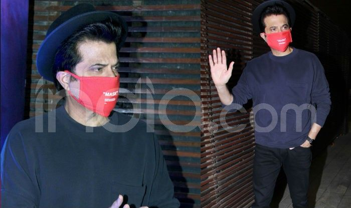 anil kapoor wears mask at Malang's success bash
