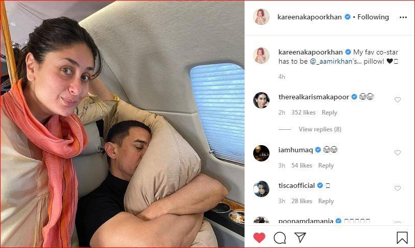 Karisma Kapoor, Tisca Chopra and Huma Qureshi comment on Kareena Kapoor Khan's Instagram post for birthday boy Aamir Khan