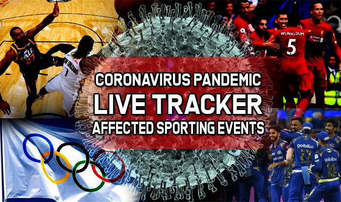 live tracker  sporting events affected by coronavirus