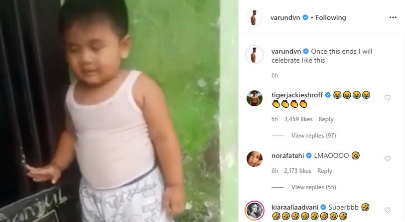 Tiger Shroff, Nora Fatehi and Kiara Advani's comment on Varun Dhawan's Instagram post