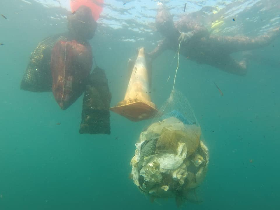 Opération mer propre (Operation clean sea) retrieves COVID-19 waste from Mediterranean sea-bed
