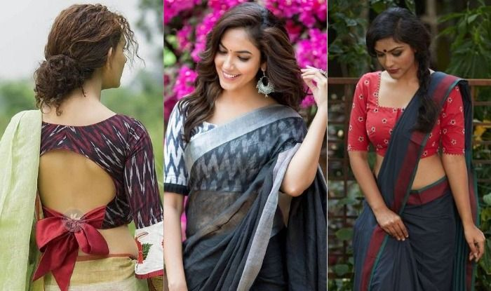 Hair styles for cotton saree look
