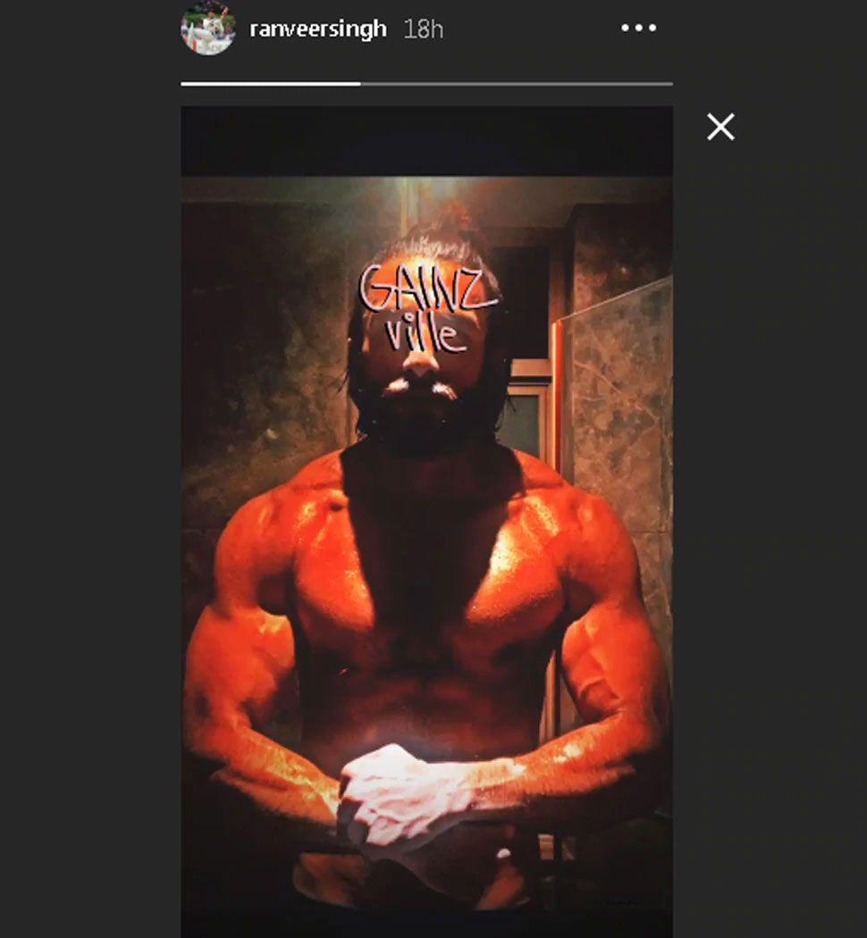 Ranveer Singh shares shirtless photo flaunting six pack abs during lockdown
