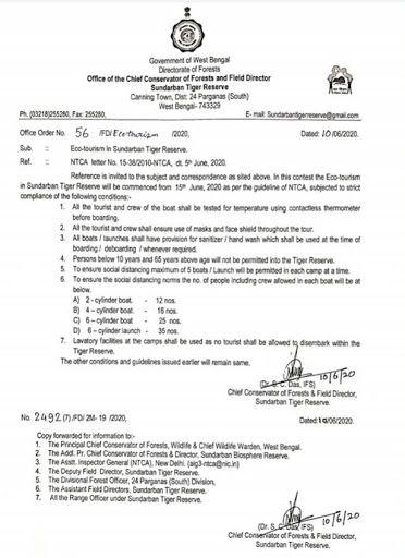 Sundarban Tiger Reserve, Sundarban National Park, West Bengal, COVID-19 lockdown eases, National Tiger Conservation Authority