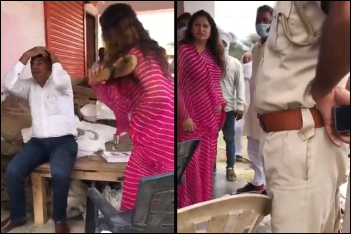 Sonali Phogat caught hitting an official while inspecting a farmers' market in Haryana