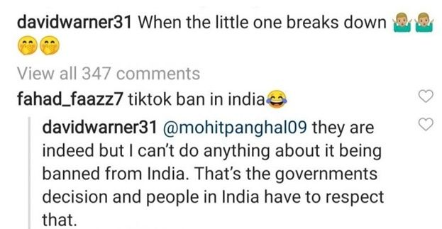 David Warner, David Warner news, David Warner age, David Warner ipl, David Warner TikTok, TikTok ban in India, Cricket News, IPL News, IPL 13