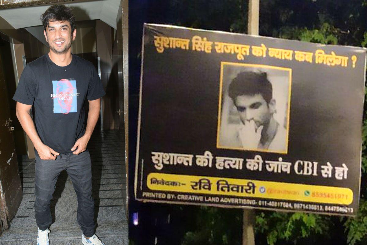 Sushant Singh Rajput's Fans Put up Hoardings in Delhi's CP Area Demanding CBI Inquiry – See Viral Photos