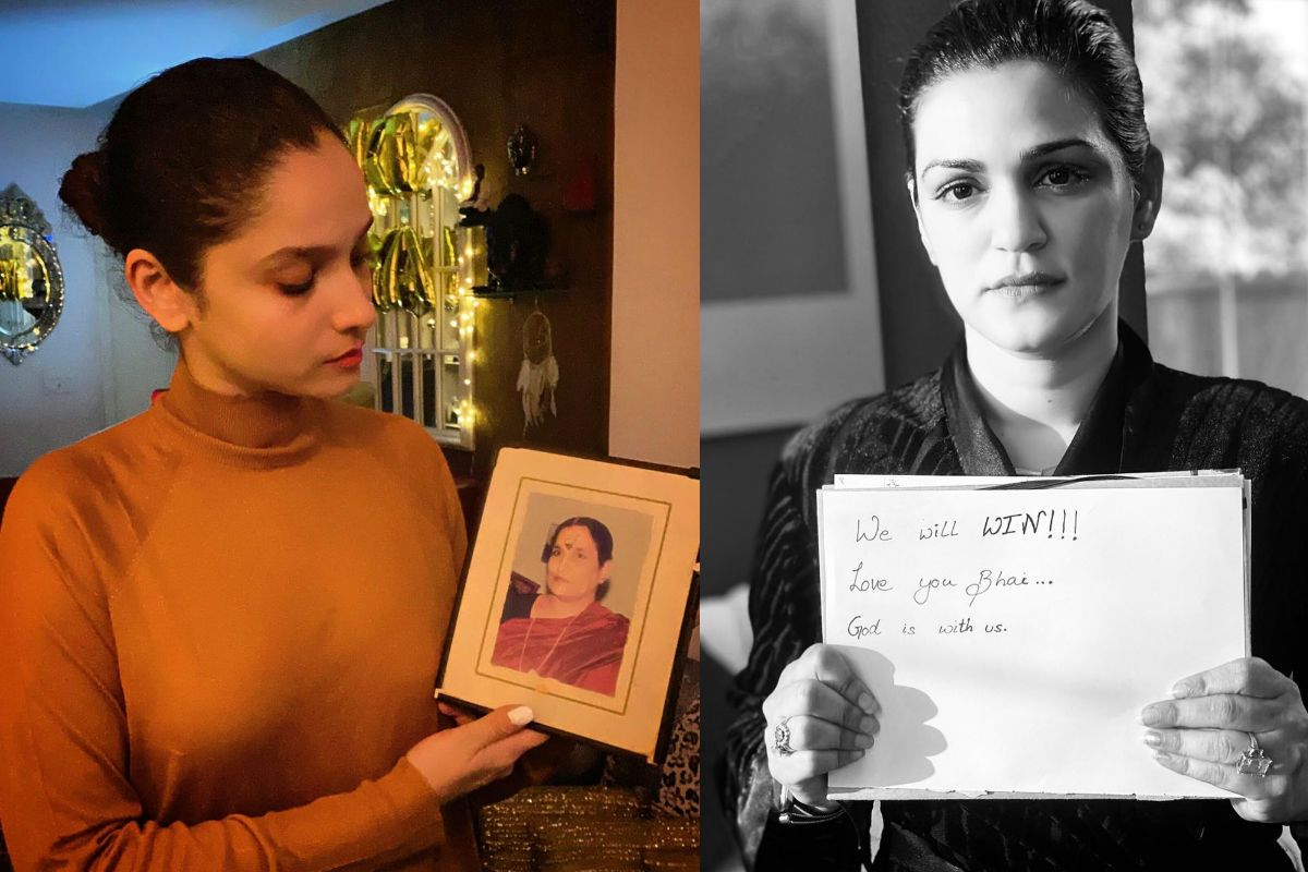 Ankita Lokhande Keeps Sushant Singh Rajput's Late Mother in Her Thoughts During Silent Protest, See Heartwarming Photo