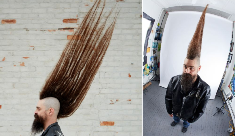 US Man Breaks Guinness World Record For the Tallest Mohawk That Measures 42.5 Inches!