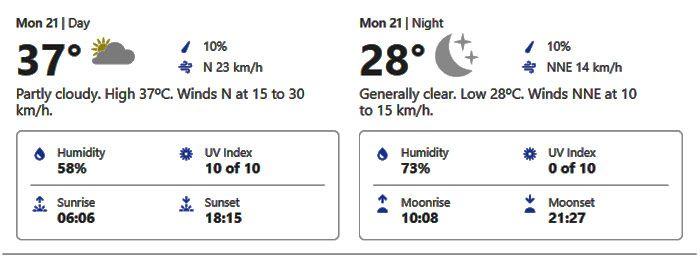 dubai weather forecast september 21,2020