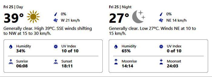 dubai weather forecast september 25