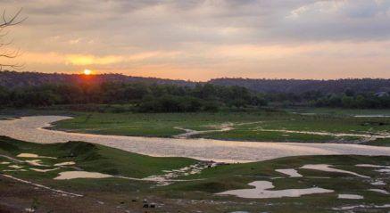 Damdama Lake in Sohna district, overlooks the splendid Aravalli Hills