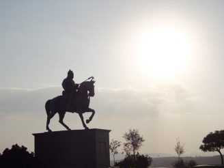 Haldighati is a historical mountain pass in the hills of Aravali