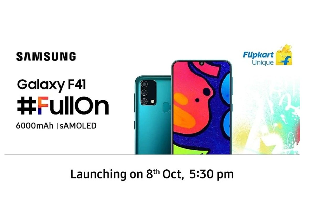 Samsung Galaxy F41 To Launch In India On October 8 Check Specifications Expected Price And Other Details
