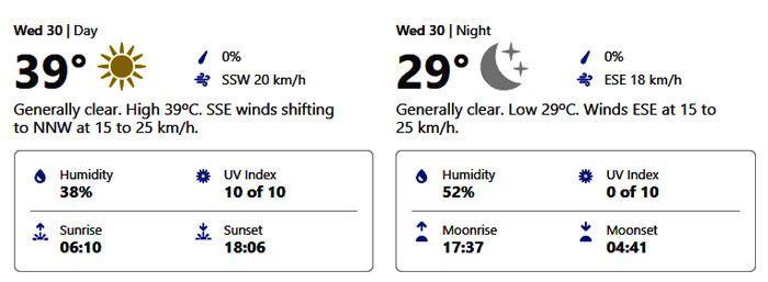 september 30 weather dubai