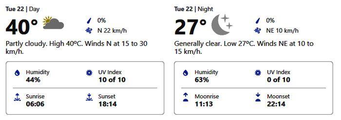 sharjah weather forecast september 22