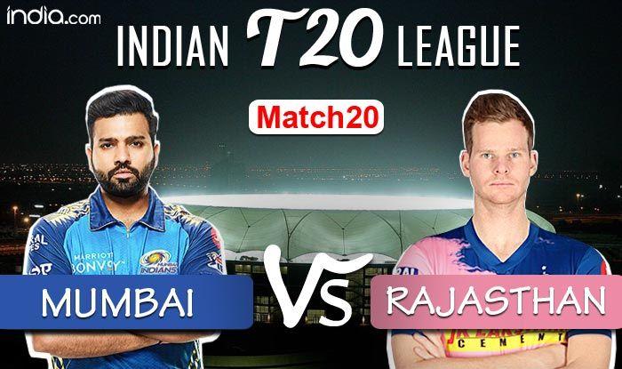 IPL 2020 LIVE Mumbai Indians vs Rajasthan Royals Match 20 Live Cricket Score And Updates: Bumrah Shines, Mumb - India.com