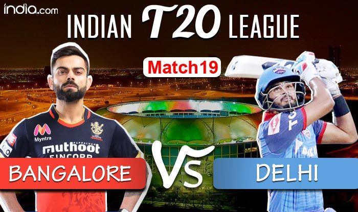 IPL 2020 Live Cricket Score And Updates, RCB vs DC Dream11 IPL LIVE Match 19 in Dubai: Ali Departs, Kohli Key - India.com