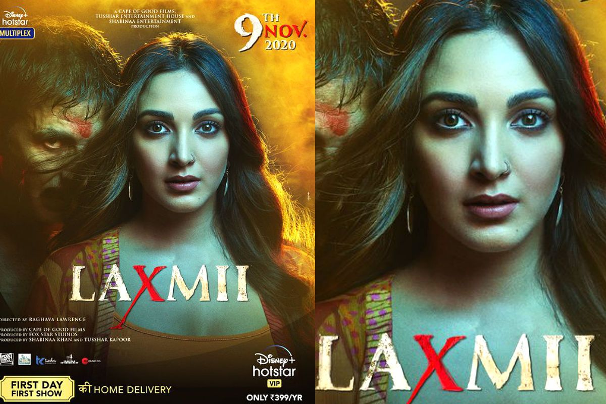 Laxmii New Poster: Kiara Advani Takes The Centre Stage While Akshay Kumar Stays in Background