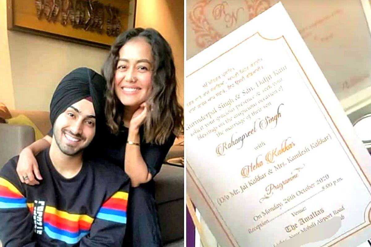 Neha Kakkar's Wedding Invite Goes Viral, Singer to Get Married to Rohanpreet Singh in Punjab