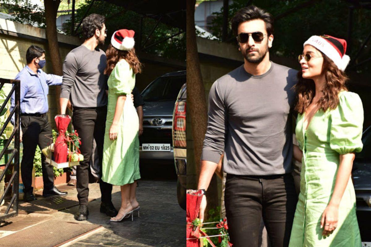 Ranbir Kapoor-Alia Bhatt Look Inseparable at Kapoor's Annual Christmas Lunch - See Viral Photos