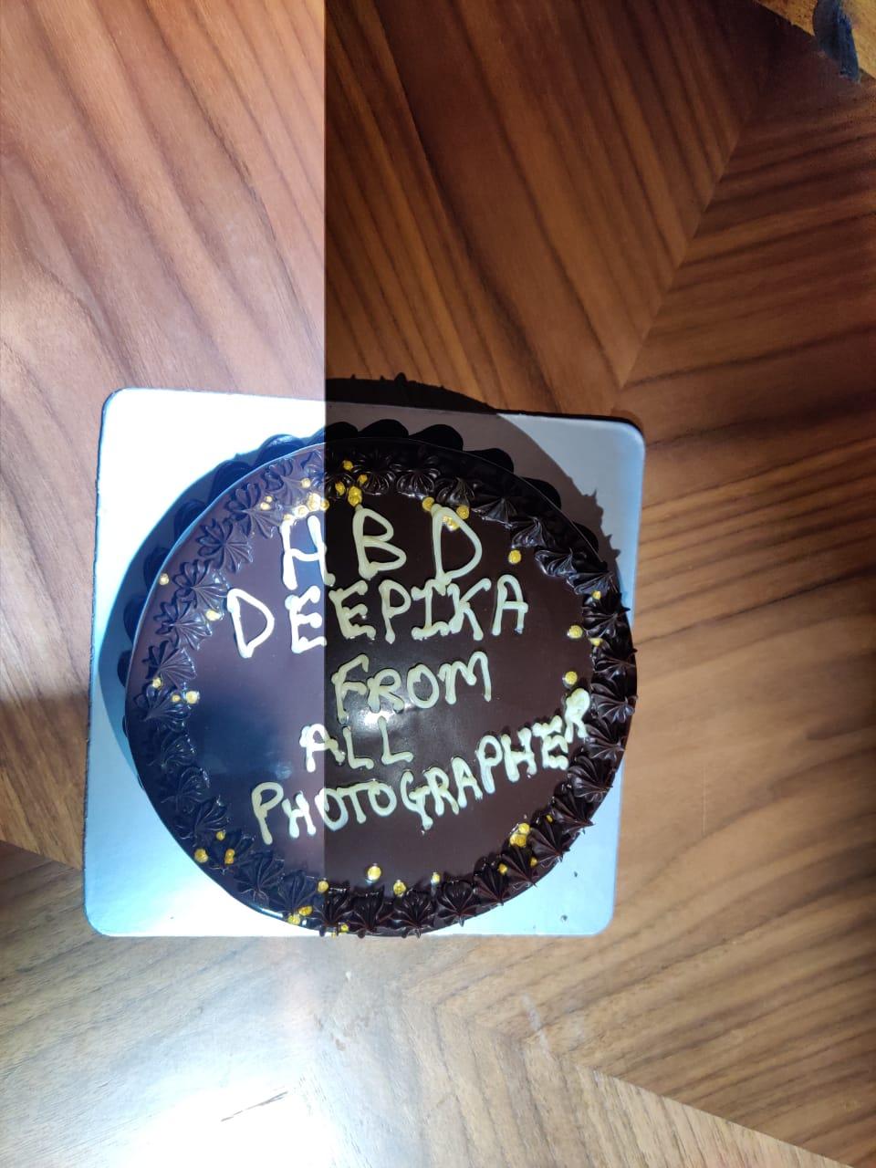 Deepika Padukone's birthday cake