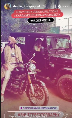 karanveer mehra-nidhi seth wedding pictures