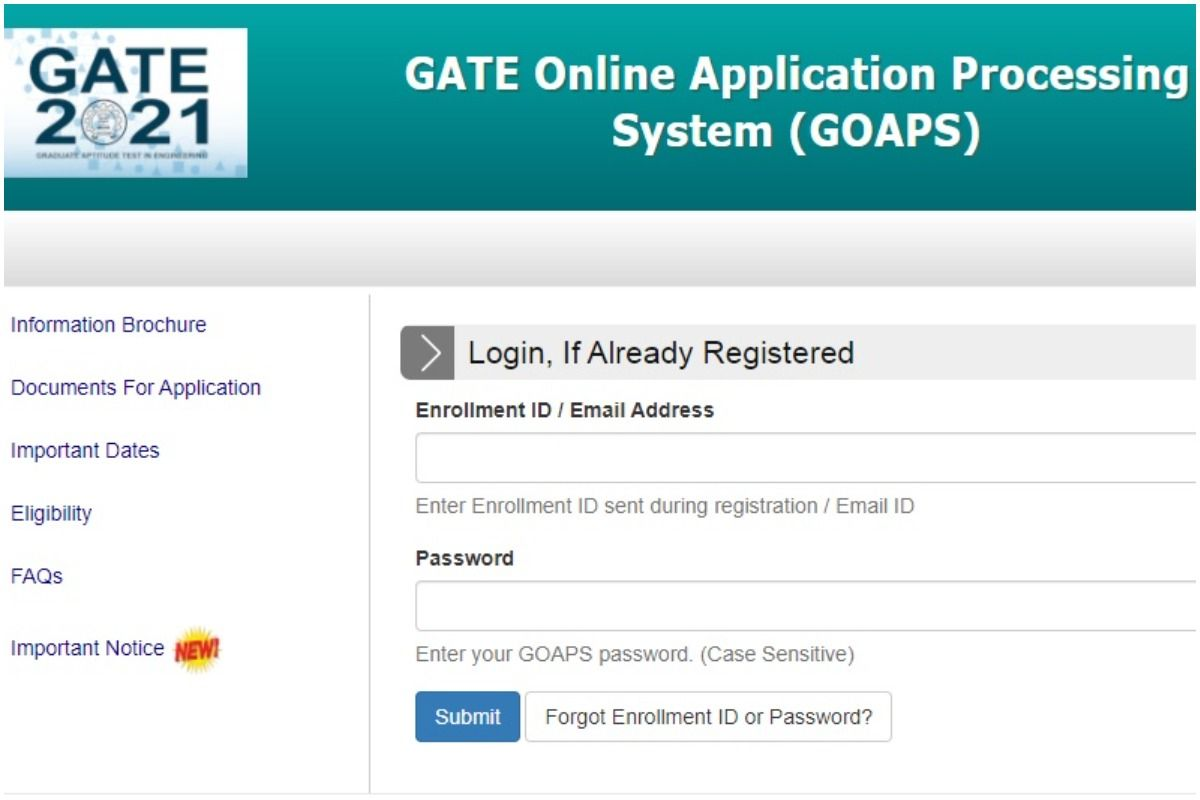 GATE 2021 Admit Card Released