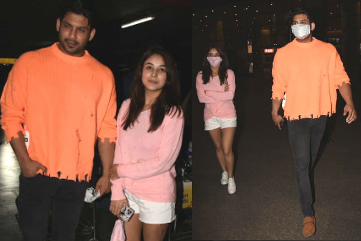 Shehnaaz Gill-Sidharth Shukla Flash Million Dollar Smiles at Airport as They Return Together From Goa - See Pics