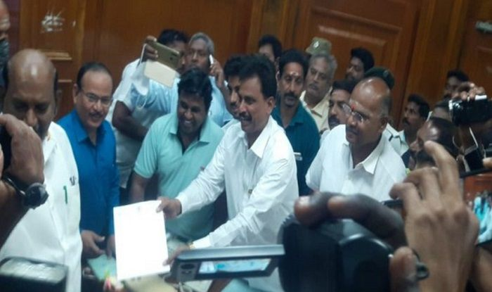 Image result for Narayanasamy government loses majority in Puducherry ahead of elections, resignation of two more MLAs