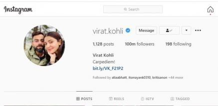 Virat Kohli Becomes First Indian With 100 Million Followers on Instagram