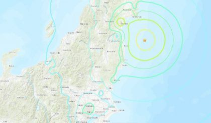 Powerful quake  hits Japan near Fukushima