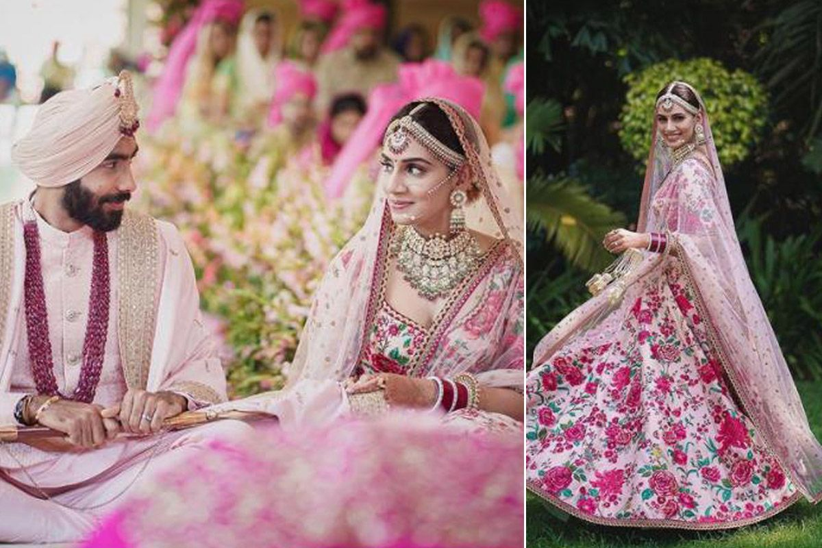 Jasprit Bumrah S Wife Sanjana Ganesan S Bridal Look Decoded Sabyasachi Lehenga Heritage Jewellery And Lot Of Grace Sabyasachi mukherjee hosted his grandest show yet, which drew inspiration from his first design collection and explored cultures, textiles and different crafts. sabyasachi lehenga heritage jewellery