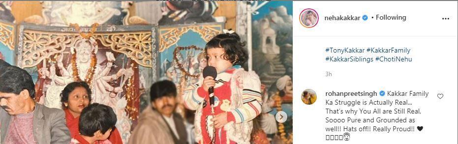 Rohanpreet Singh commented on Neha Kakkar's post