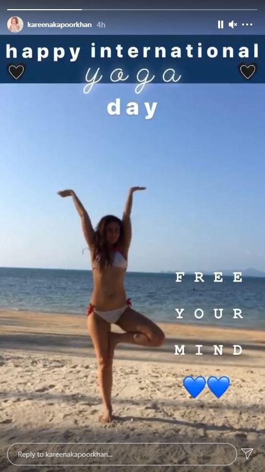 Kareena shares a bikini picture on Yoga day