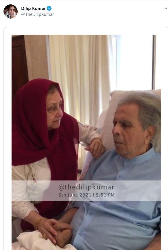 Saira Banu Shares Photo of Dilip Kumar From Hospital