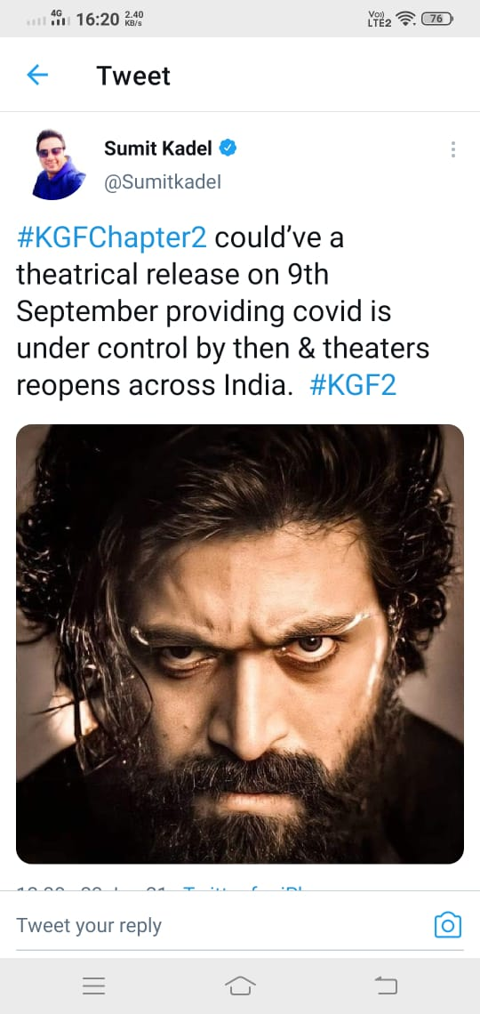 Sumit Kadel Says KGF 2 Might Release On This Date But Conditions Applied!