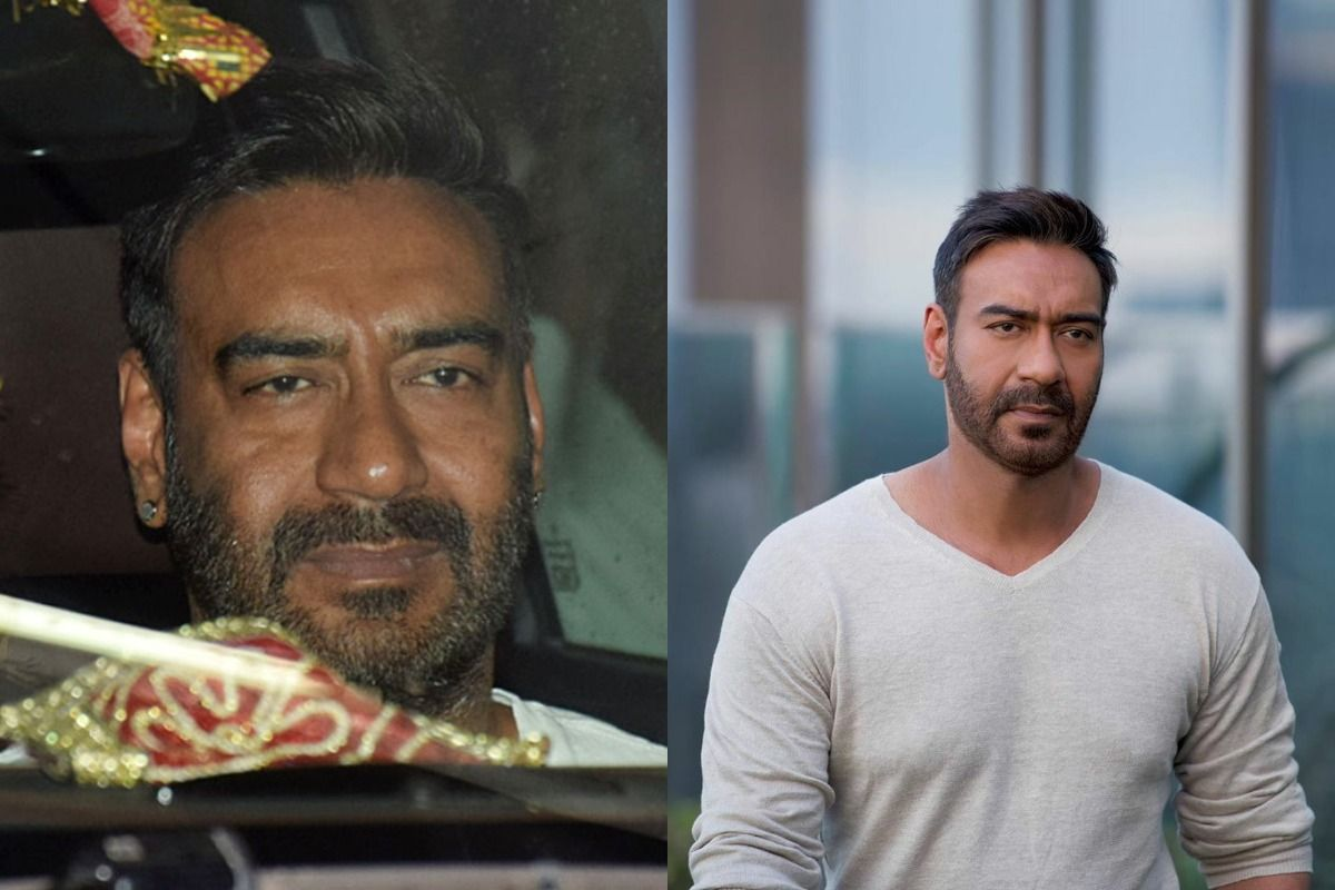 Actor's Shocking Before and After Makeup Photos - Ajay Devgn