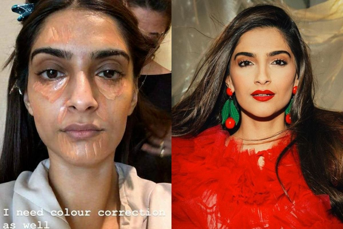 Actor's Shocking Before and After Makeup Photos - Sonam Kapoor