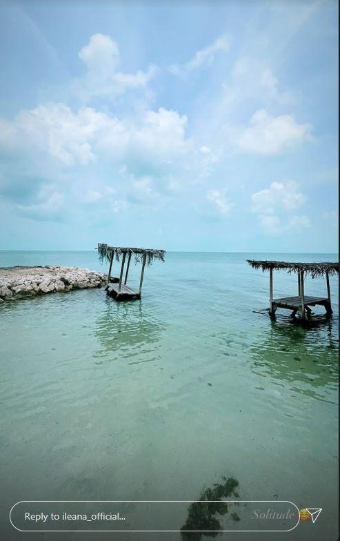 Ileana D'cruz's beach vacation