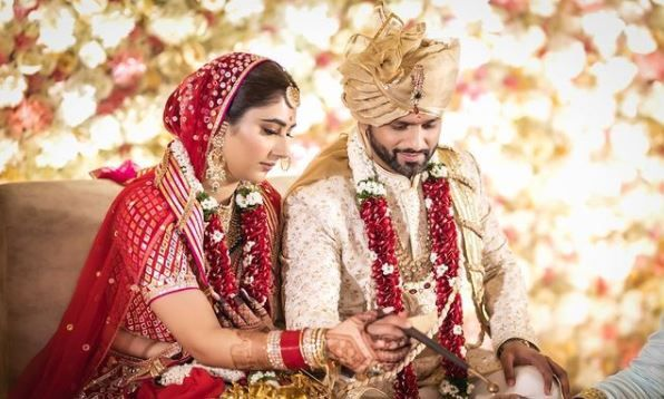 Rahul Vaidya Shares First Official Wedding Picture With Wife Disha Parmar