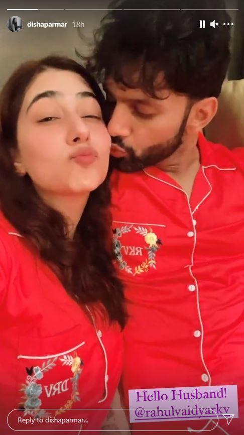 Disha Parmar Shares Mushy Video With Hubbt Rahul Vaidya As He Plants Kiss On Her
