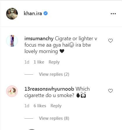 Ira Khan trolled for smoking cigarettes. See comment section