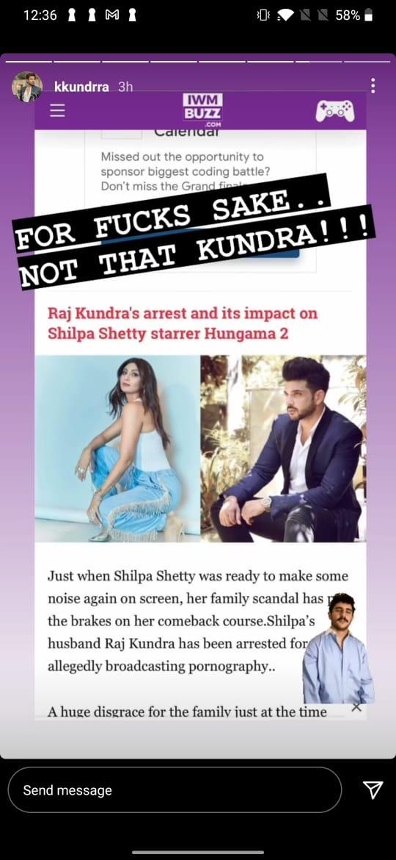 Karan Kundra shares screenshot of news site who misunderstood him with Raj Kundra