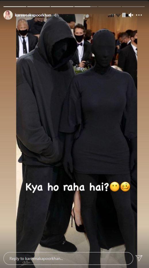 Kareena Reacts To Kim Kardashian's Met Gala Look Photo Credit: Instagram/@ kareenakapoorkhan