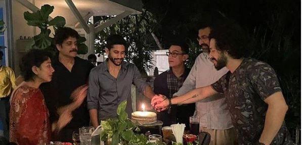 Naga Chaitanya And Nagarjuna Host Dinner For Aamir Khan