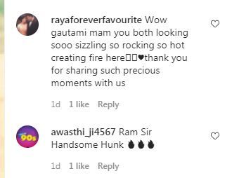 Fans react to Ram Kapoor-Gautami Kapoor's Throwback Photo Photo Credit: Instagram/@gautamikapoor