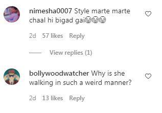 Malaika Arora gets trolled for her 'weird walk'. Photo Credit: Instagram/@ bollywoodpap