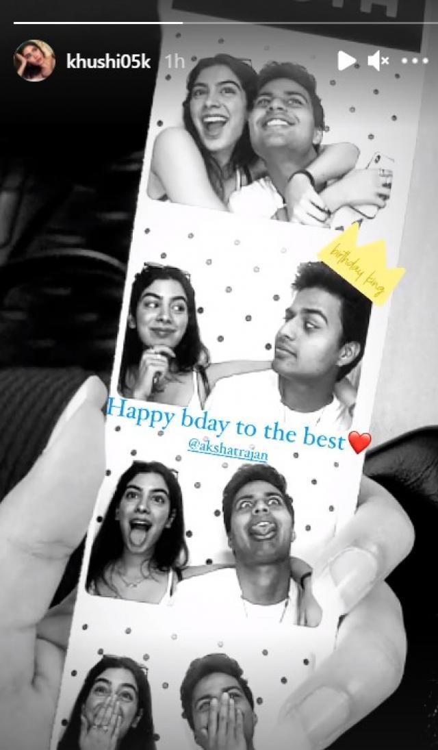 Khushi Kapoor's birthday wish for Akshat Ranjan (PC: Khushi's IG)