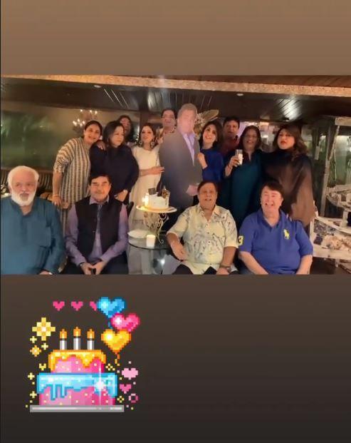 Family and friends of late Rishi Kapoor Celebrate Chintuji | PC: Neetu Kapoor Instagram